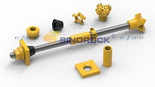 Self-drilling anchor bolt used for soft geological slope support